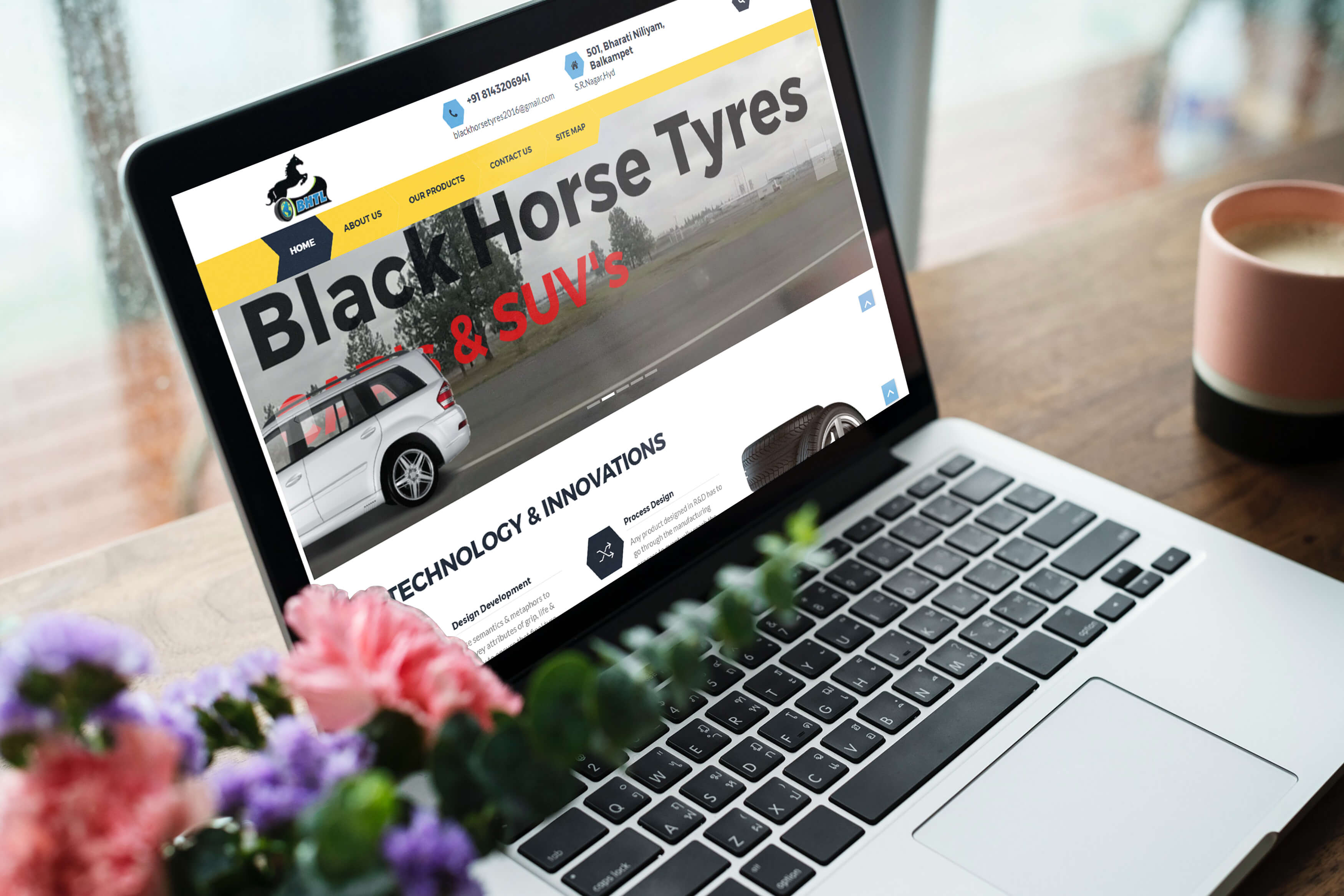 Blackhorse tyres Website by Oacer web services